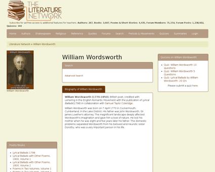 Wordsworth William