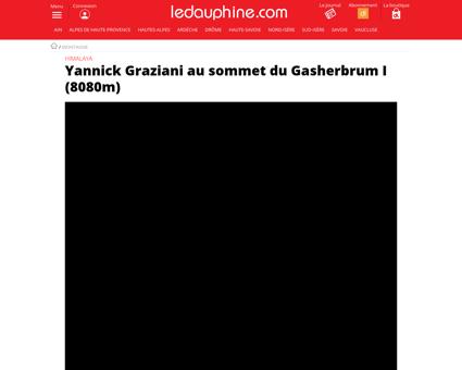 Yannick graziani au sommet du gasherbrum Yannick