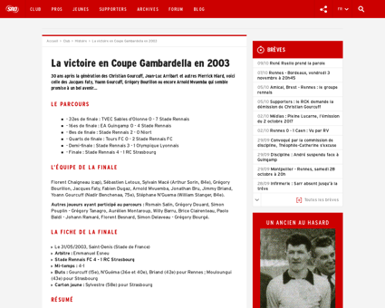 La victoire en Coupe Gambardella Yoann