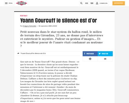 0101591950 yoann gourcuff le silence est Yoann