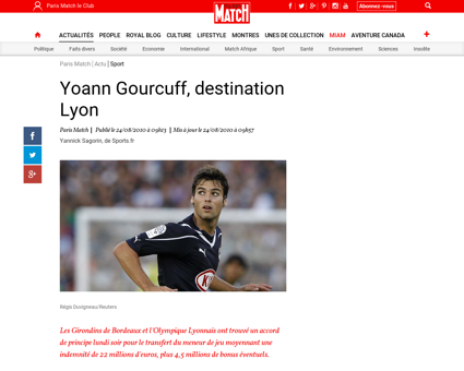 Accord avec Bordeaux pour le transfert d Yoann