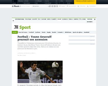 Football yoann gourcuff poursuit son asc Yoann