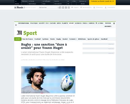 Dopage yoann huget suspendu trois mois p Yoann