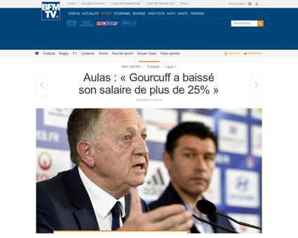 Aulas gourcuff a baisse son salaire de p Yoann