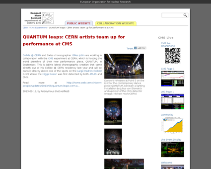 Quantum leaps cern artists team performa Gilles