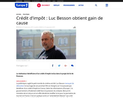 Affaire Kassandre Luc Besson Luc