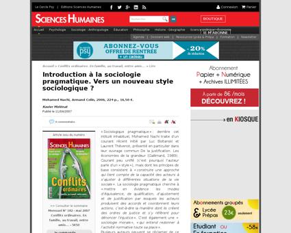 Introduction a la sociologie pragmatique Luc