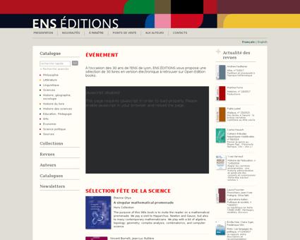 Catalogue editions.ens lyon.fr Luc