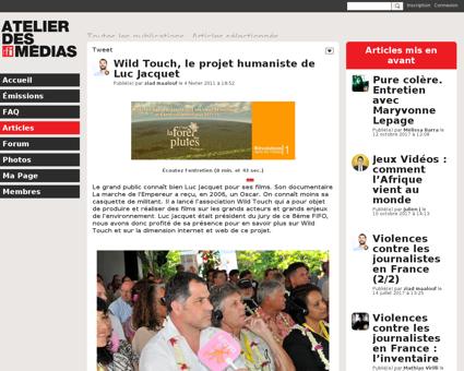 Wild touch le projet humaniste Luc