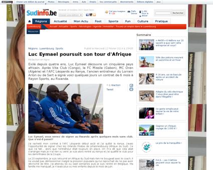 Luc eymael poursuit son tour d afrique Luc