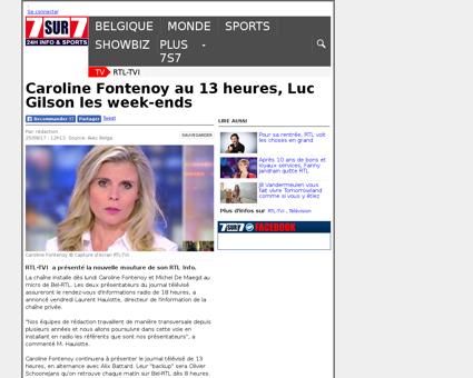 Caroline Fontenoy au 13 heures Luc Gilso Luc