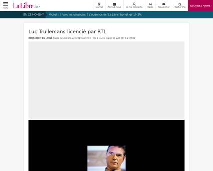 Luc trullemans licencie par rtl Luc