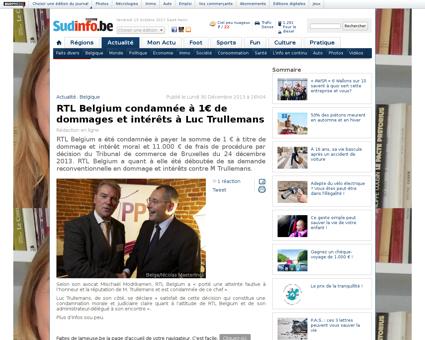 Rtl belgium condamnee a 1%E2%82%AC de do Luc