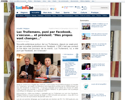 Luc trullemans puni par facebook s excus Luc