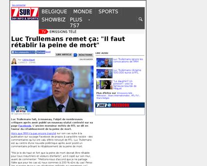 Luc Trullemans remet ca Il faut retablir Luc