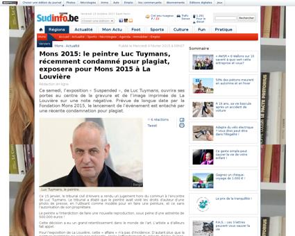 Mons 2015 le peintre luc tuymans recemme Luc