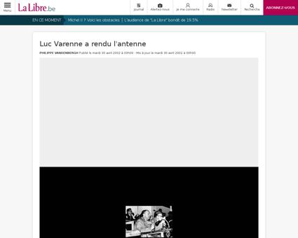 Luc varenne a rendu l antenne Luc