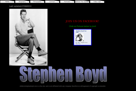 allaboutstephenboyd.com Stephen