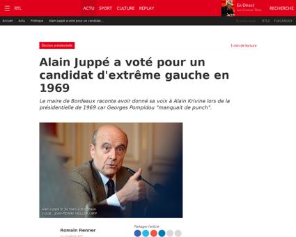 Alain juppe a vote pour un candidat d ex Alain