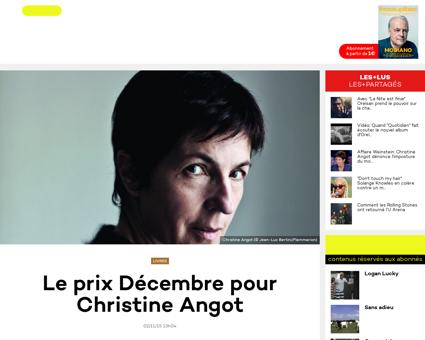 Le prix decembre pour christine angot 11 Christine