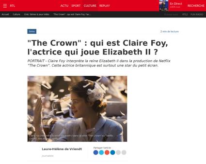 The crown qui est claire foy l actrice q Claire