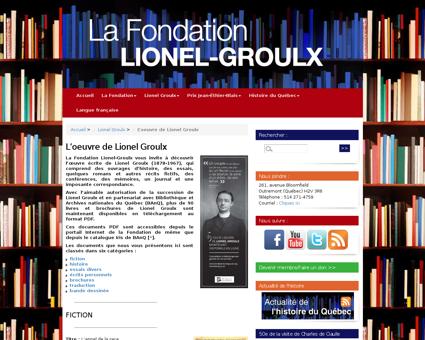 L oeuvre de Lionel Groulx Lionel