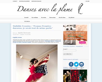 Mathilde froustey promue premiere danseu Mathilde