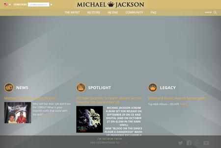 michaeljackson.com Michael