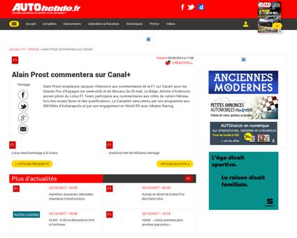 050514 alain prost commentera sur canal+ Alain