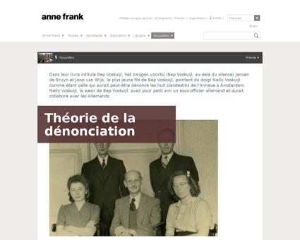 Theorie de la denonciation Anne