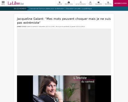 Jacqueline GALANT