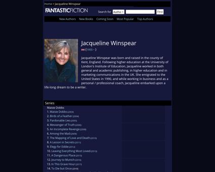 Jacqueline winspear Jacqueline