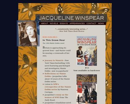 jacquelinewinspear.com Jacqueline