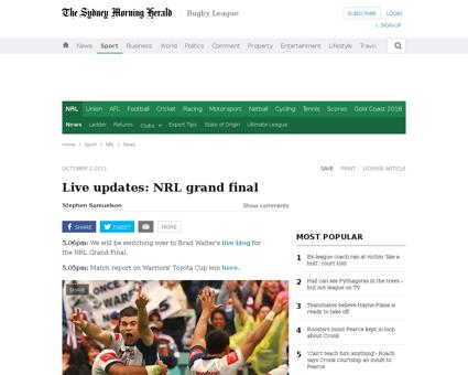 Live updates nrl grand final 20111002 1l Kelly