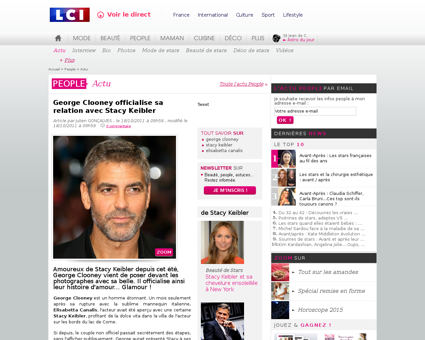 George clooney officialise sa relation a Georges