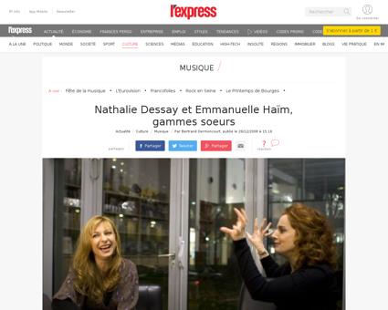 Nathalie dessay et emmanuelle haim gamme Emmanuelle