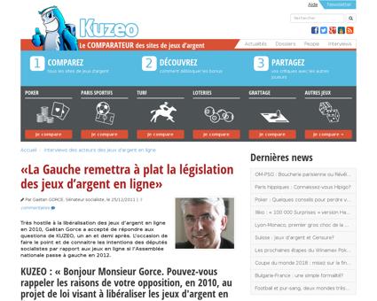 Gauche remettra a plat legislation jeux  Gaetan