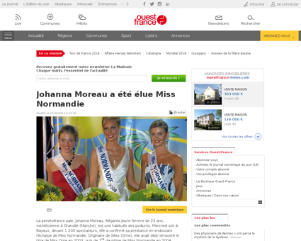 ActuDet  Johanna Moreau a ete elue Miss  Johanna