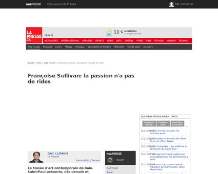 01 5045201 francoise sullivan la passion Francoise
