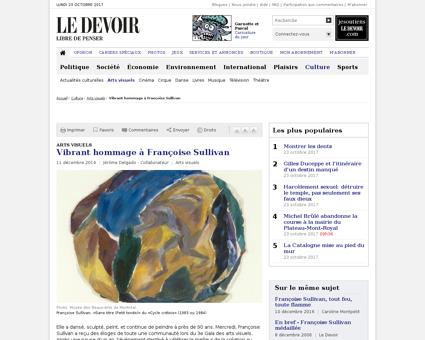 Arts visuels vibrant hommage a francoise Francoise