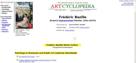 Bazille frederic Frederic