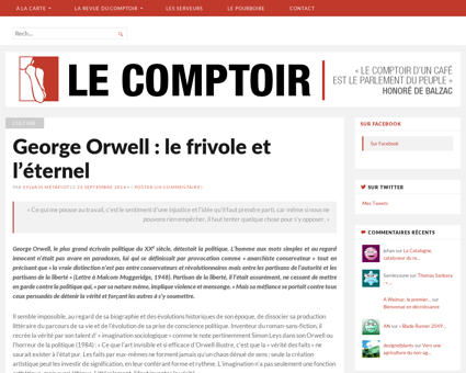 George orwell le frivole et leternel Georges