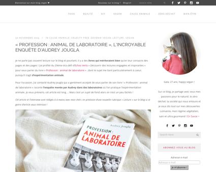 Profession animal de laboratoire lincroy Audrey