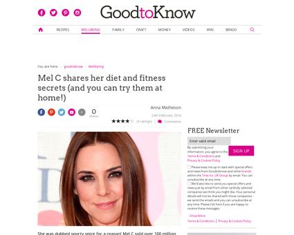 Mel c diet exercise secrets Melanie