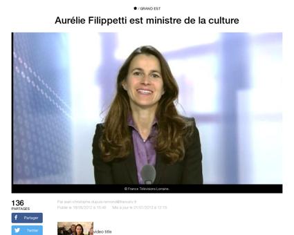 Aurelie filippetti est ministre de la cu Aurelie