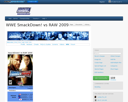 WWE SmackDown! vs RAW 2009 Dylan