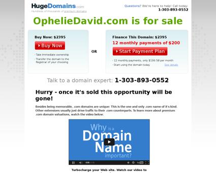 opheliedavid.com Ophelie