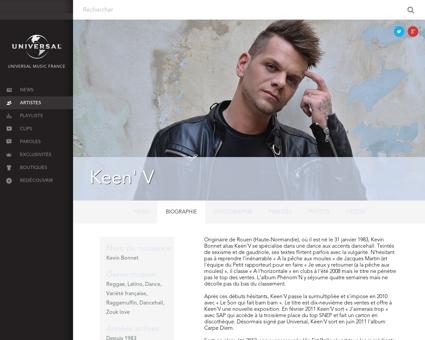 Biographie Kevin