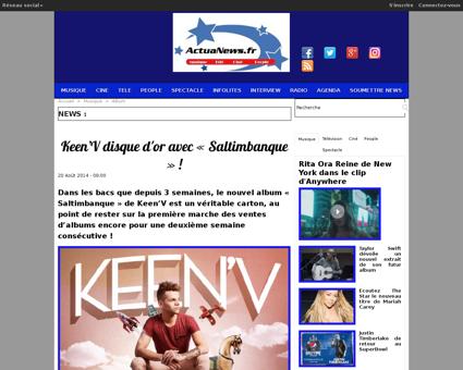 Keen V disque d or avec Saltimbanque  a1 Kevin