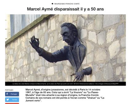 Marcel ayme disparaissait il y 50 ans 13 Marcel